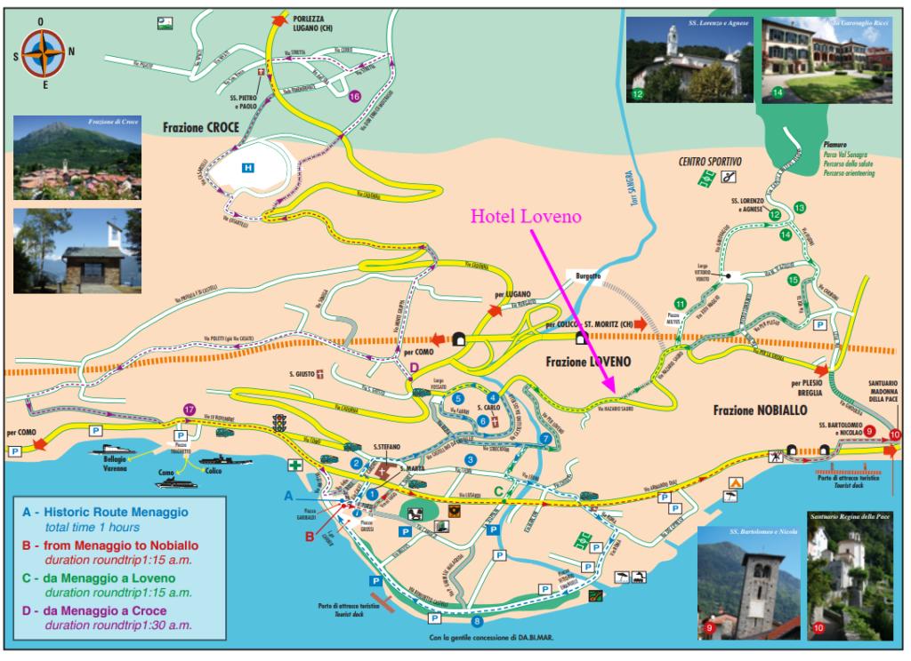 map of Menaggio by Hotel Loveno