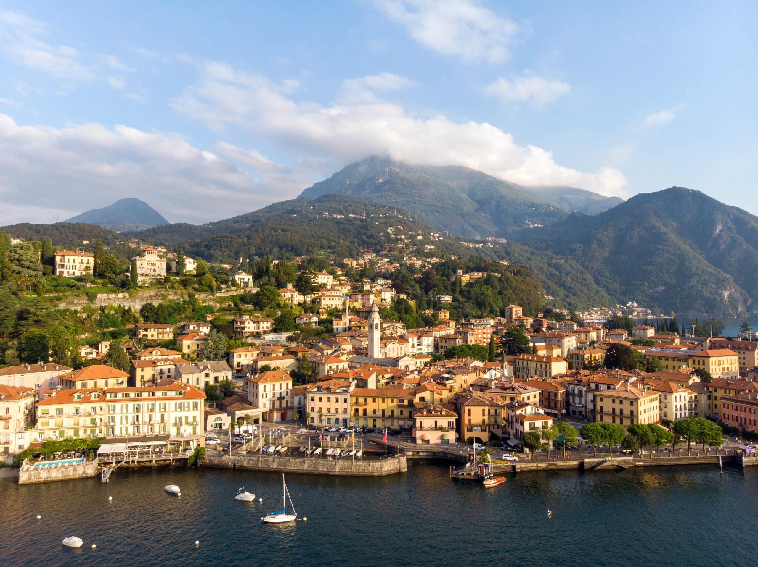 aerial view_menaggio_lake como _Hotel Loveno