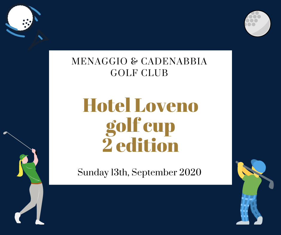 text and icons about Hotel Loveno golf cup 2020